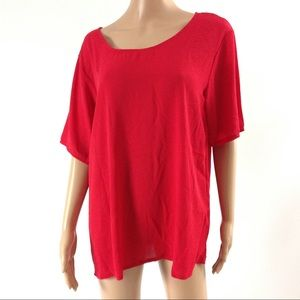 New Women Red Blouse Size 1X